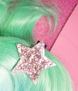 Glitter star hair clip glitter girl teens accessories