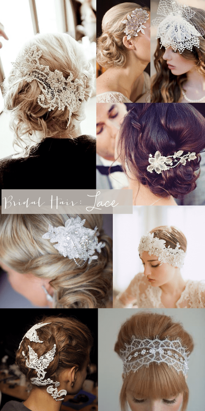 Bridal Style Lace Hair Pieces Glitter Inc