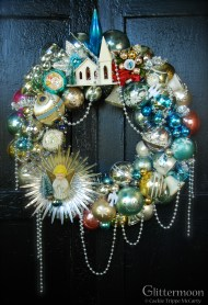 "The lovely Angel of the Morning Wreath $265 with storage bag - Approx. 20"" diameter *SOLD*"