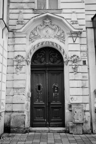Peephole II. Gorgeously ornamental door in Bratislava, unfortunately not immune from modern-day graffiti