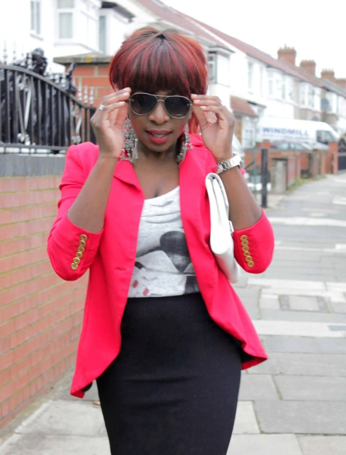Semi formal with Red Blazer