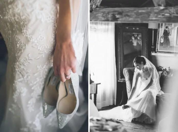 silver Jimmy Choo shoes wedding