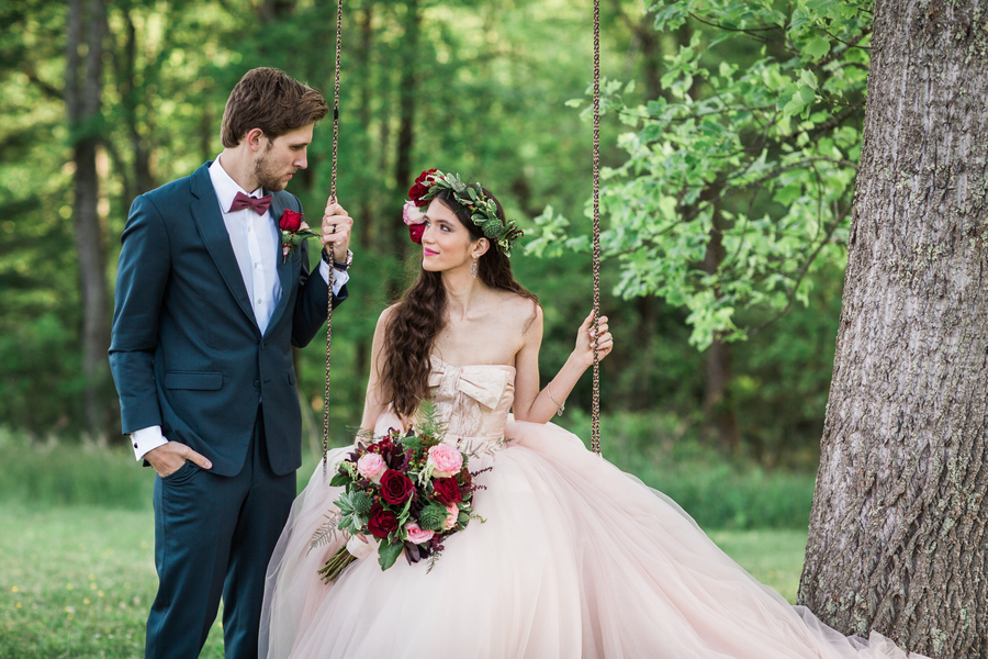 fairytale wedding tree swing