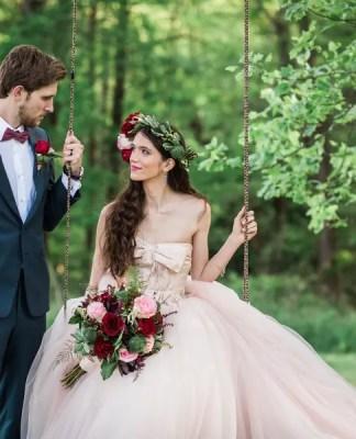 fairytale wedding tree swing