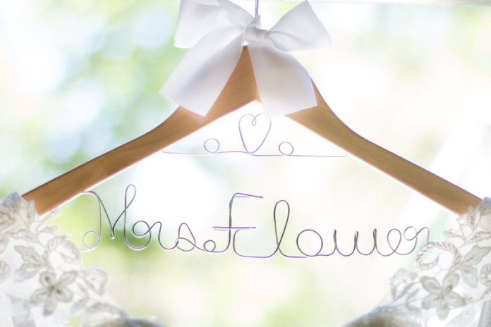 bride last name clothes hanger