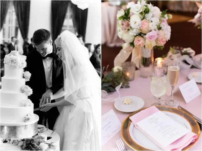blush rose wedding reception