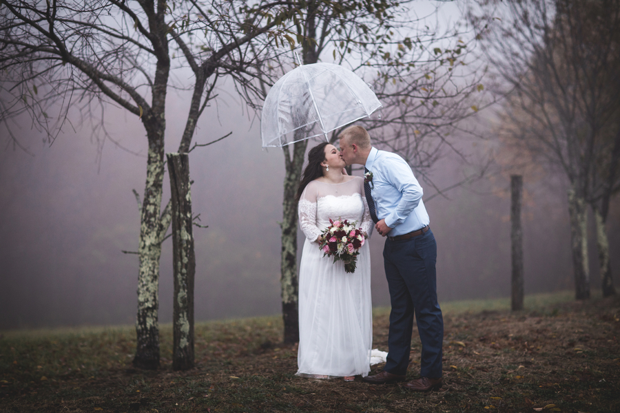 Romantic and Foggy West Virginia Wedding