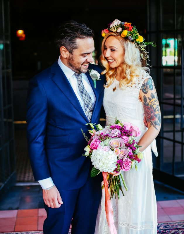 bride and groom nyc bowrey
