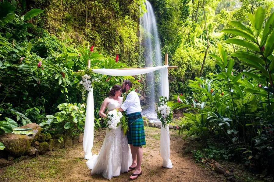 Romantic Elopement in Kuai, Hawaii