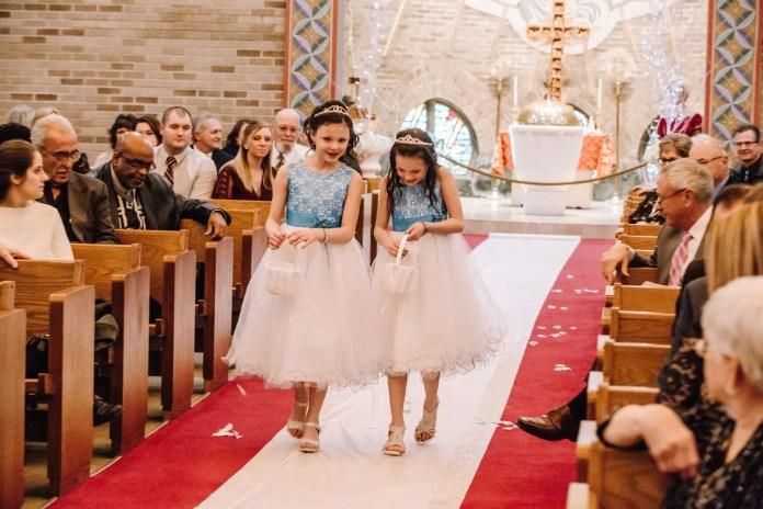Winter Wonderland Greek Wedding Glittery Bride