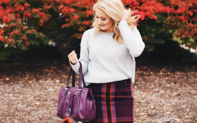 PLAID SKIRT + SWEATER