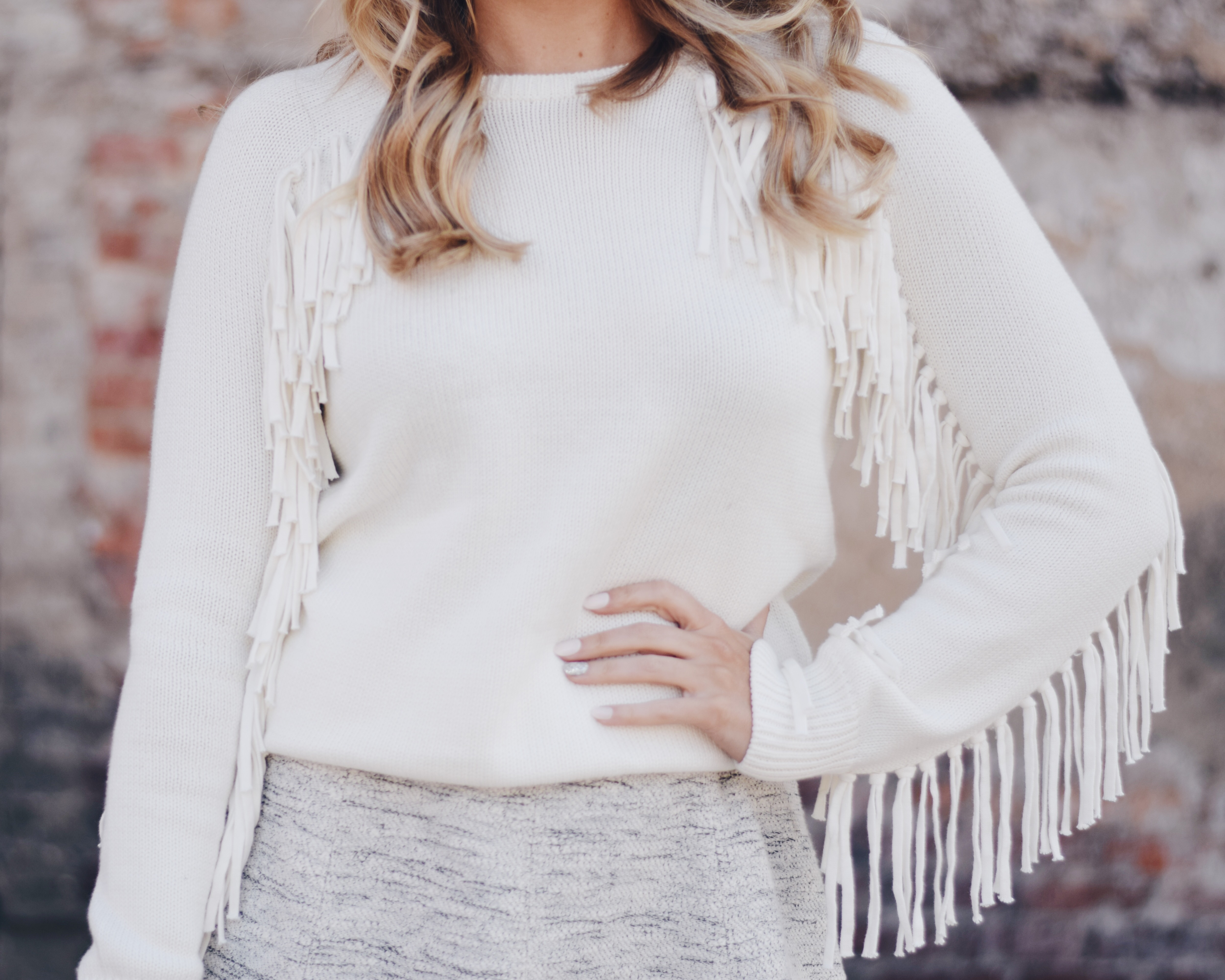 Fringe Sweater Glitz A Beautiful Life