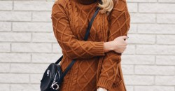 cozy brown sweater and leggings
