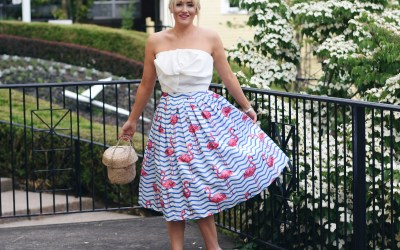 FLAMINGO PRINTED SKIRT