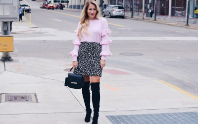 RUFFLES AND LEOPARD