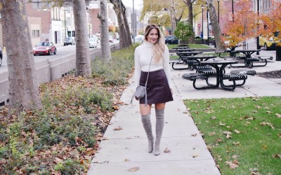 THE PERFECT LEATHER MINI FOR FALL