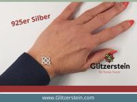 Schmuckverbinder Knoten 925 Silber (Variante 1)