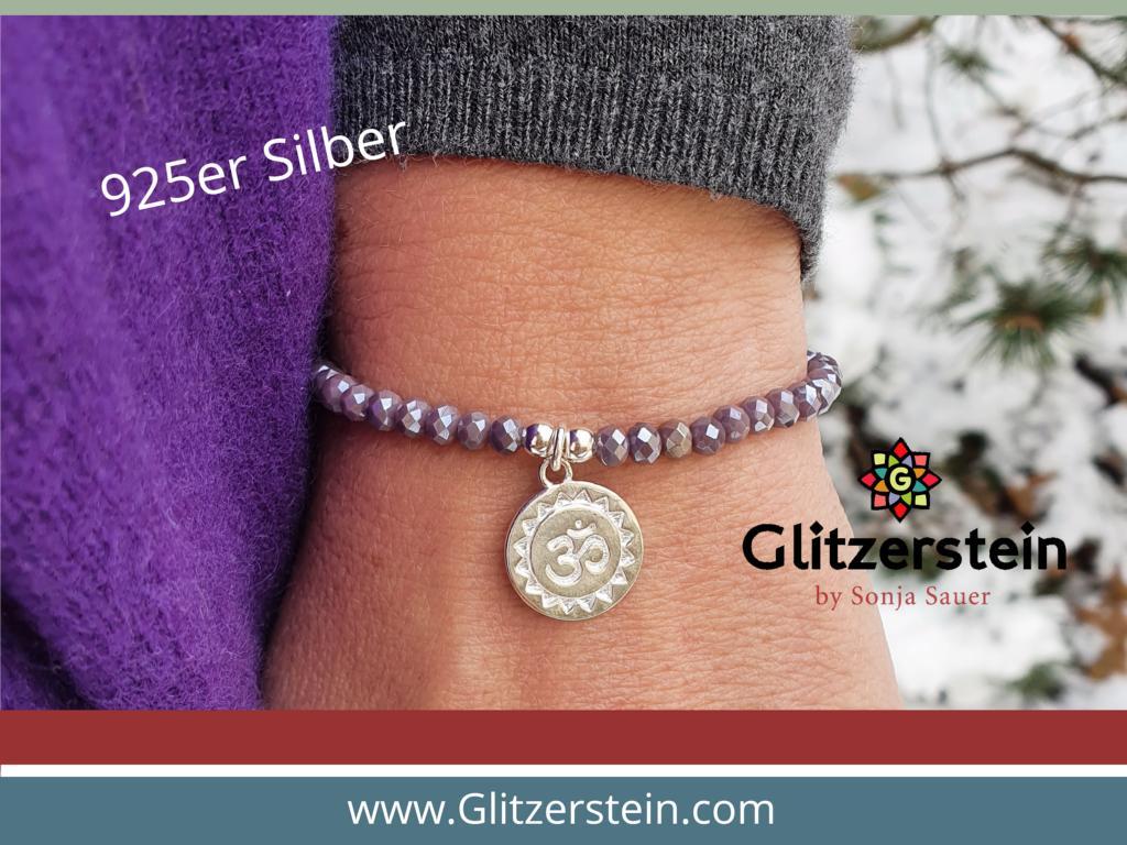 facettierte-glasperlen-armband-mit-om-zeichen-925-silber
