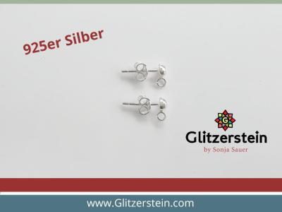 Ohrhaken mit Blümchen 925er Silber