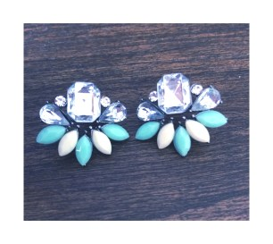 Turquoise and white stunners $10