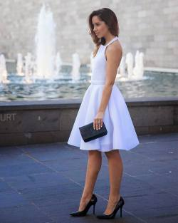 Fit And Flare Little White Inspiration Dress