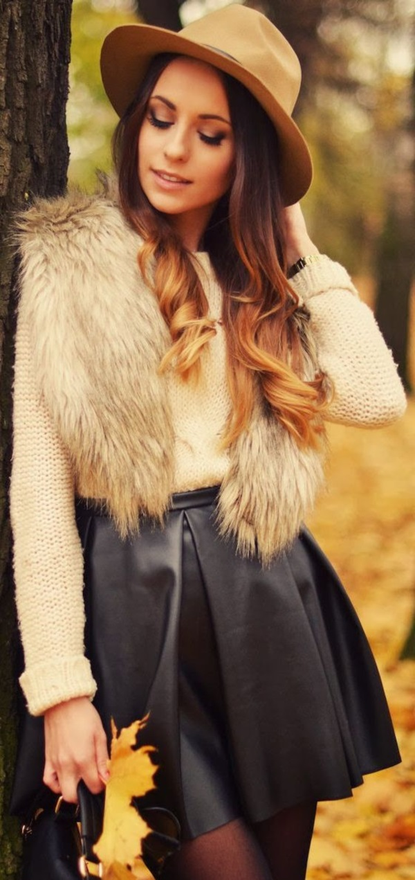 40 Sexy Winter Skirt Outfit Ideas – Fashion 2016