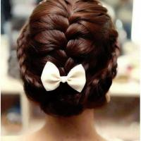 Braided with Bow - Hairstyles and Beauty Tips