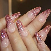 Pink Sparkle Tips