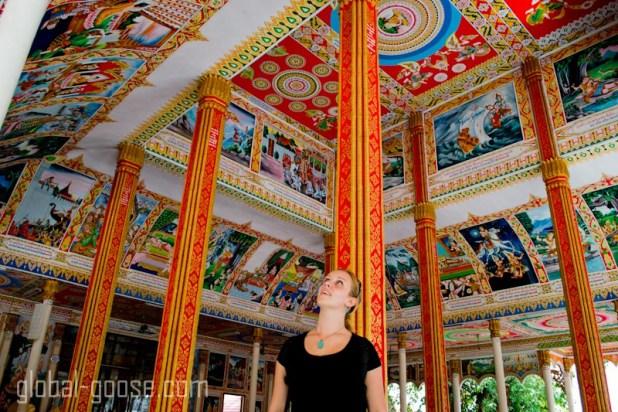 Inside Wat That Luang Thai Vientiane Laos