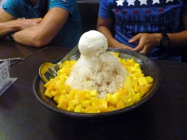 A delicious mango ice cream dessert