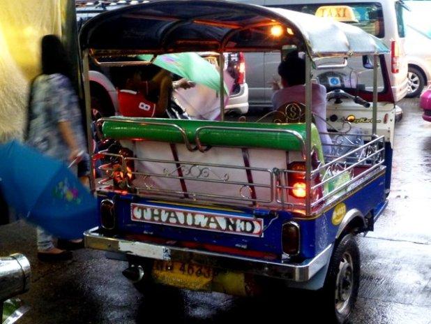 A tuk tuk in Bangkok