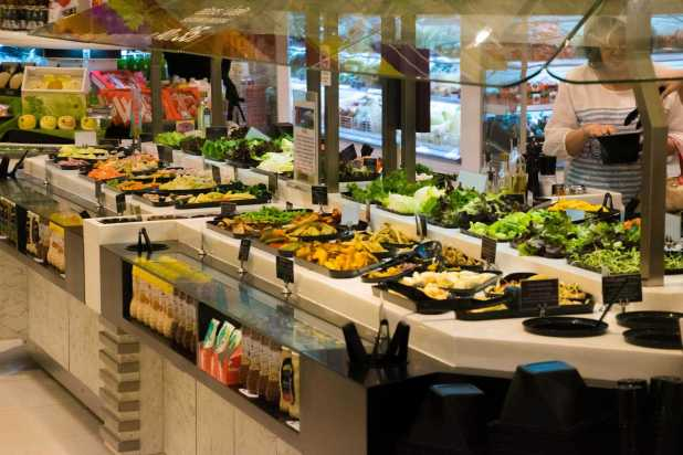 The best salad bar I have ever seen.