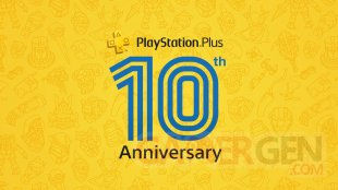PlayStation Plus logo 10 years
