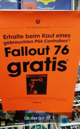 Fallout 76: two German stores sell the game as much as