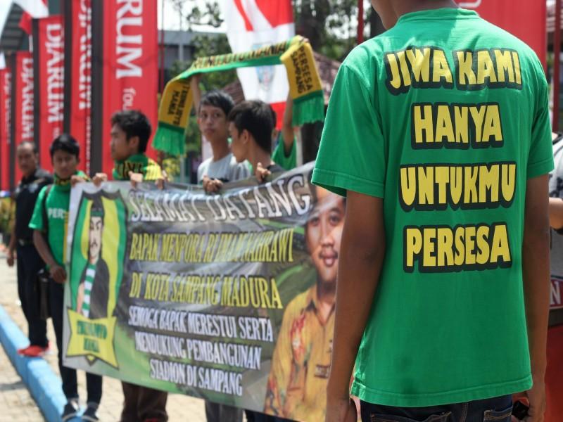 Istimewa Para Trunojoyo Mania belum memberikan dukungan resmi kepada Madura United