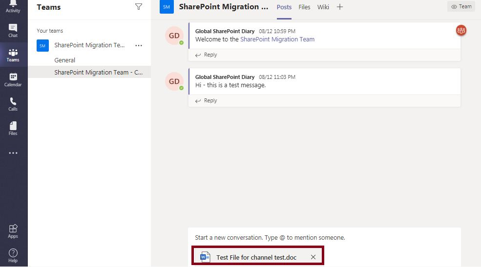 Microsoft Teams Channel File