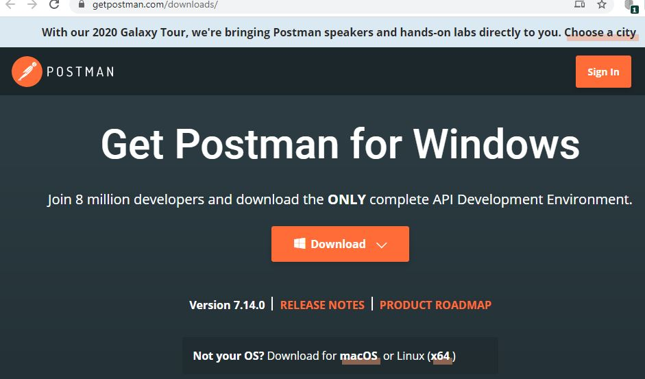 Download Postman tool: Get Postman for Windows - Download Postman