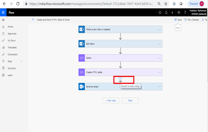 Format HTML table in outlook using Microsoft flow power automate