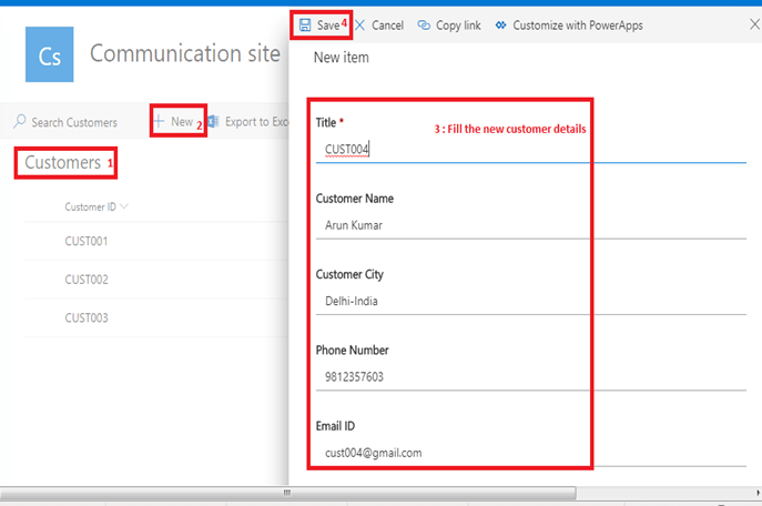 Send an email office 365 outlook configuration in Microsoft flow power automate - add item in SharePoint List