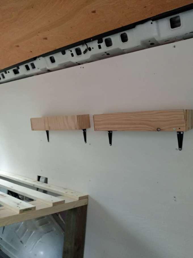 DIY shelf for van life