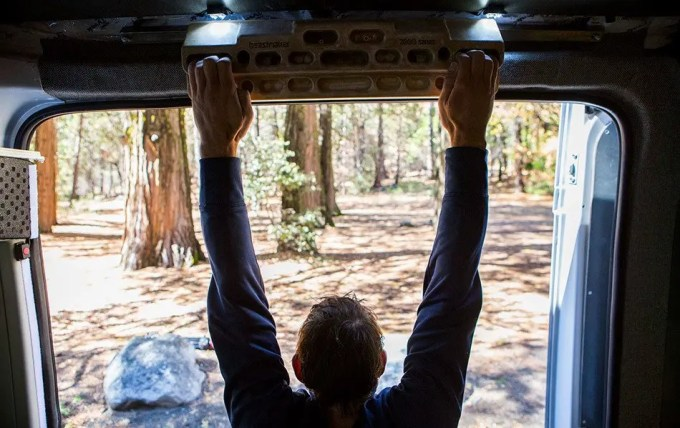 how to exercise when living in a van