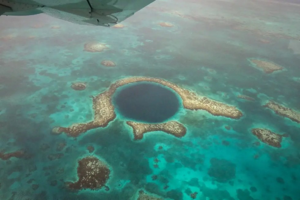 The Great Blue Hole Scenic Flight