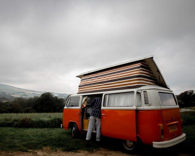VW camper van road trip