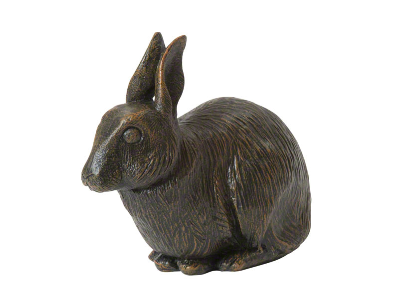 Beautiful figurine Rabbit urns for pet bunny ashes. Can be personalized.