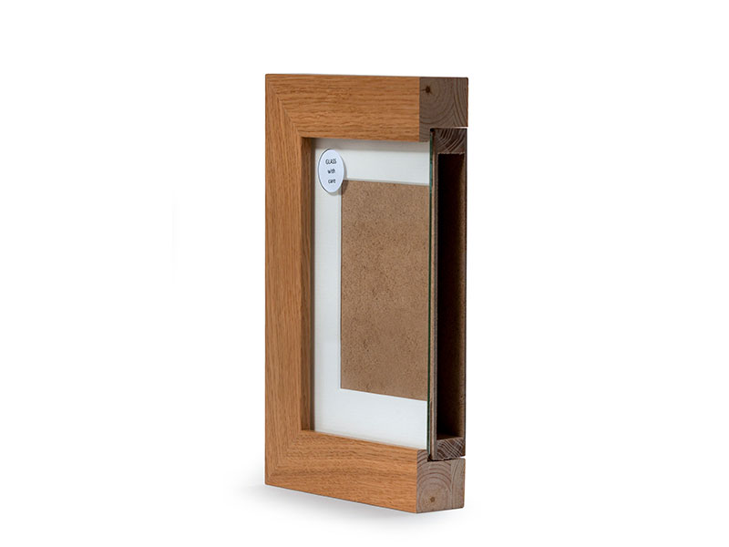 Tribute Frame photo memorial urn - cross section of ashes compartment