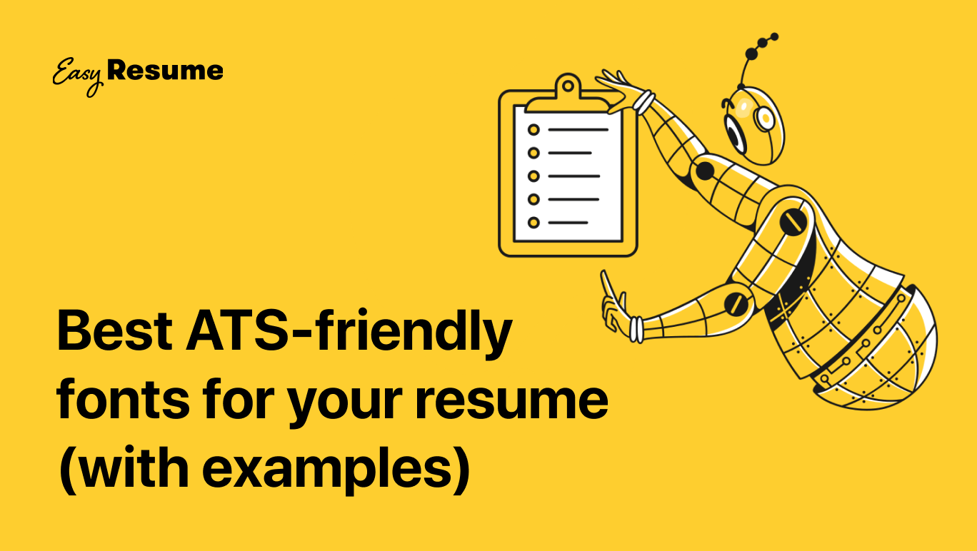 06/05/2021· so, what is the best font to use for a resume? Top 10 Ats Friendly And Readable Resume Fonts In 2021 Easy Resume