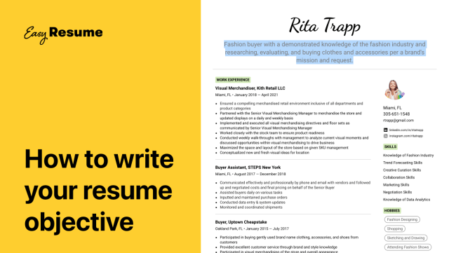 How to Write Your Resume Objective Statement in 23  Easy Resume