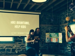 "Showing our mini-documentary ""Hike Mountains, Help Kids"""
