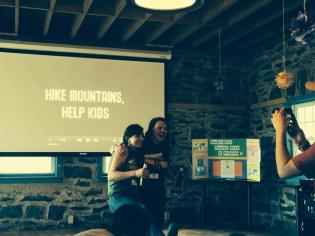 """Showing our mini-documentary """"Hike Mountains, Help Kids"""""""