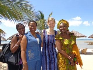 Work meeting in Tanzania with colleagues from Burundi, Liberia, and Nigeria
